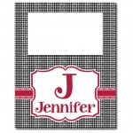 Houndstooth Tall Picture Frame