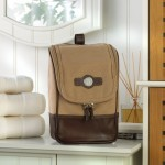 Personalized Canvas and Leather Travel Bag
