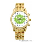 Gold Anchor Monogrammed Watch