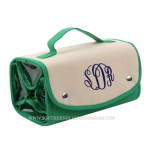 Canvas Roll Up Cosmetic Bag