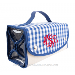 Gingham Roll Up Cosmetic Bag