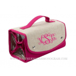 Linen Roll Up Cosmetic Bag