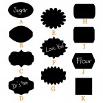 Chalkboard Labels Assorted Shapes Large
