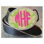 Monogrammed Pink Points Buckle