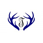 Antlers with Vine Initial