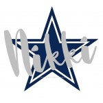 Cowboys Star with Name Overlay