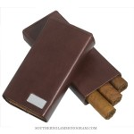 Personalized Sienna Leather Cigar Case