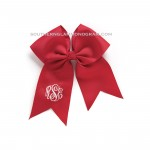 Monogrammed Hair Bow-Red