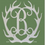 Antler Wood Monogram