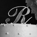 Monogrammed Cake Topper - Clear