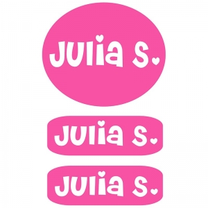 Clothing Labels - Pink