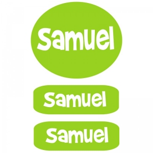 Clothing Labels - Lime Green Boys
