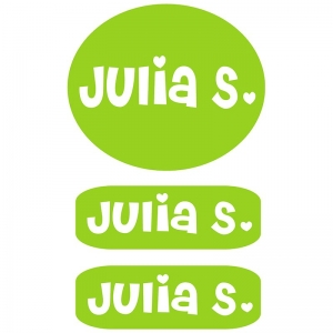 Clothing Labels - Lime Green Girls