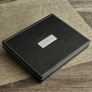 Personalized Leather Valet